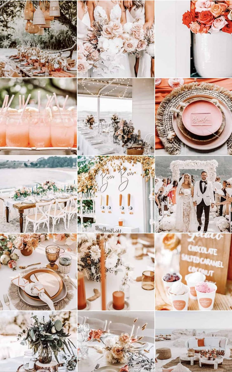 Presets pink wedding decoration events inspiration instagram lightroom