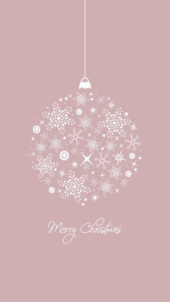 Mauve snowflake Christmas ornament background/template/wallpaper