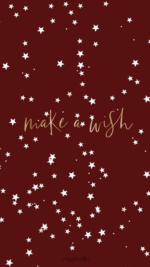 Dark red stars Make a wish background/template/wallpaper