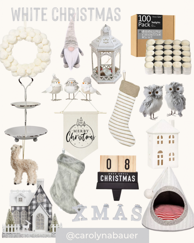 White Christmas decors