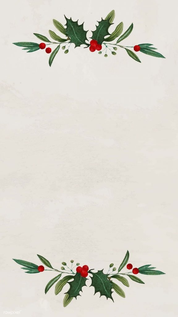 Beige holly frame background/wallpaper/template