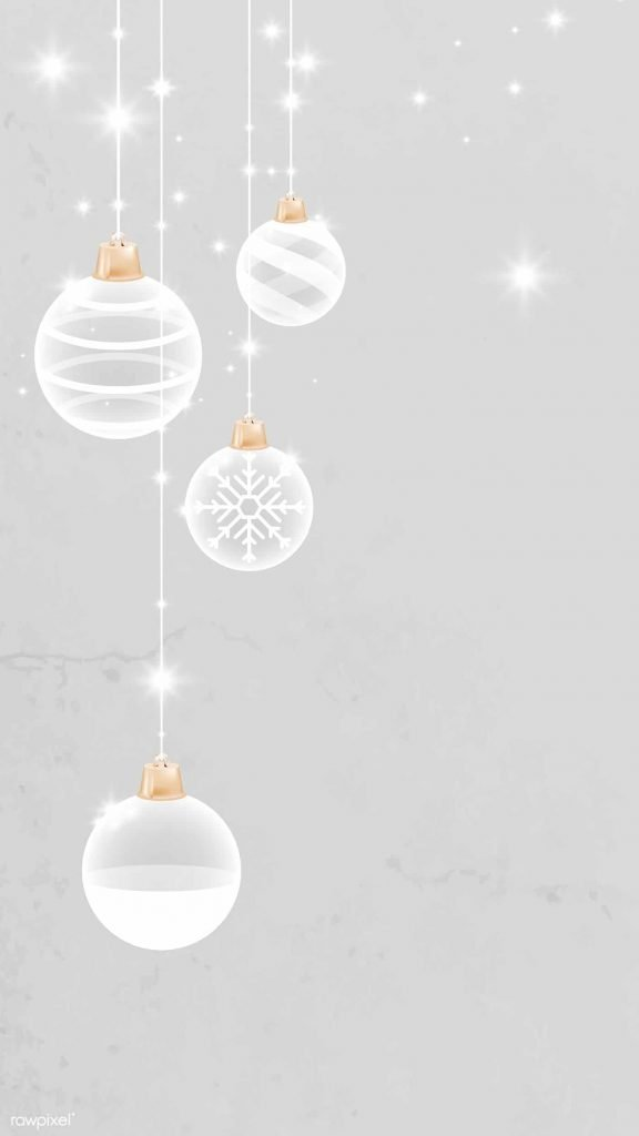 White and grey snowflake Christmas ornament background/template/wallpaper