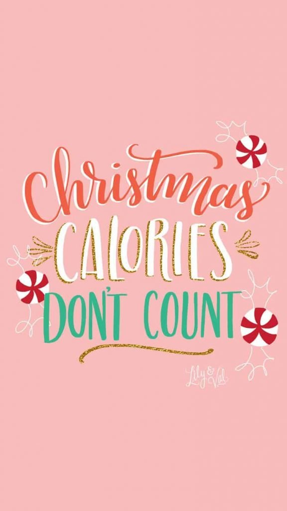 Christmas calories dont count background/wallpaper/template