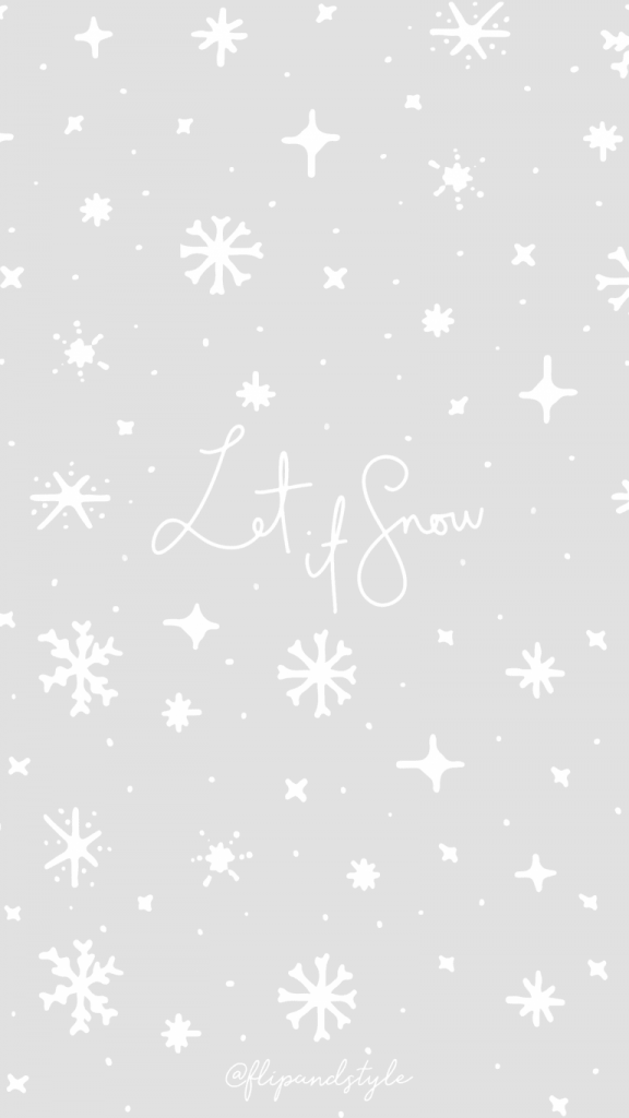 Let it snow grey and white snowflakes background/template/wallpaper