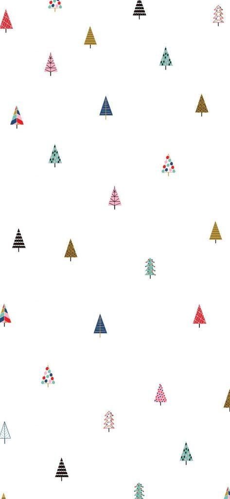 White Christmas trees background/template/wallpaper