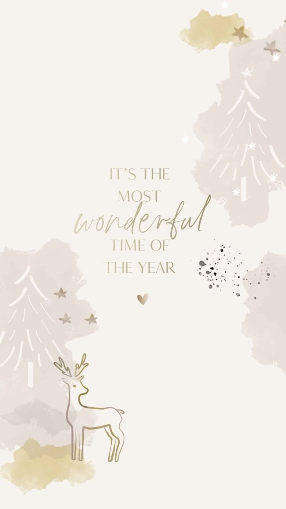 White gold Its the most wonderful time of the year background/template/wallpaper