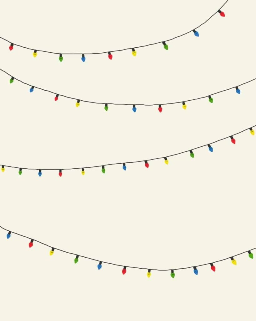 Colorful Christmas lights background/template/wallpaper