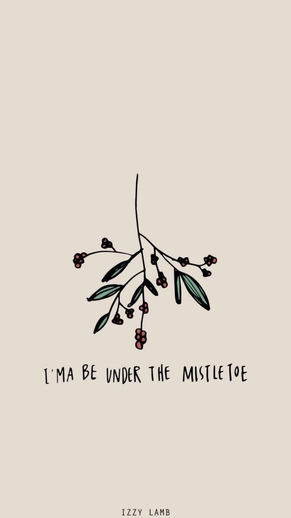 Ima be under the mistletoe background/template/wallpaper