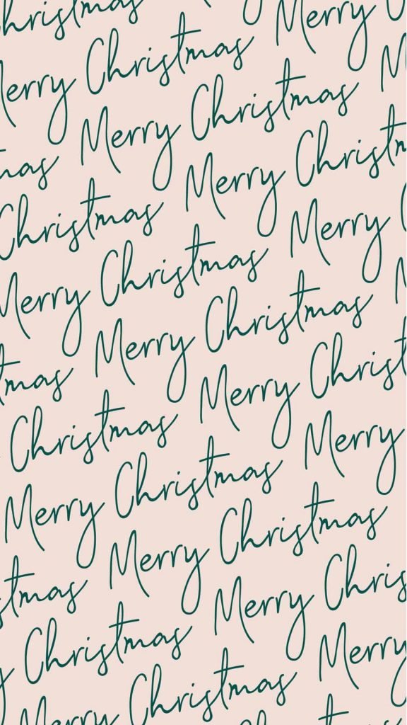 Pink and green Merry Christmas background/wallpaper/template