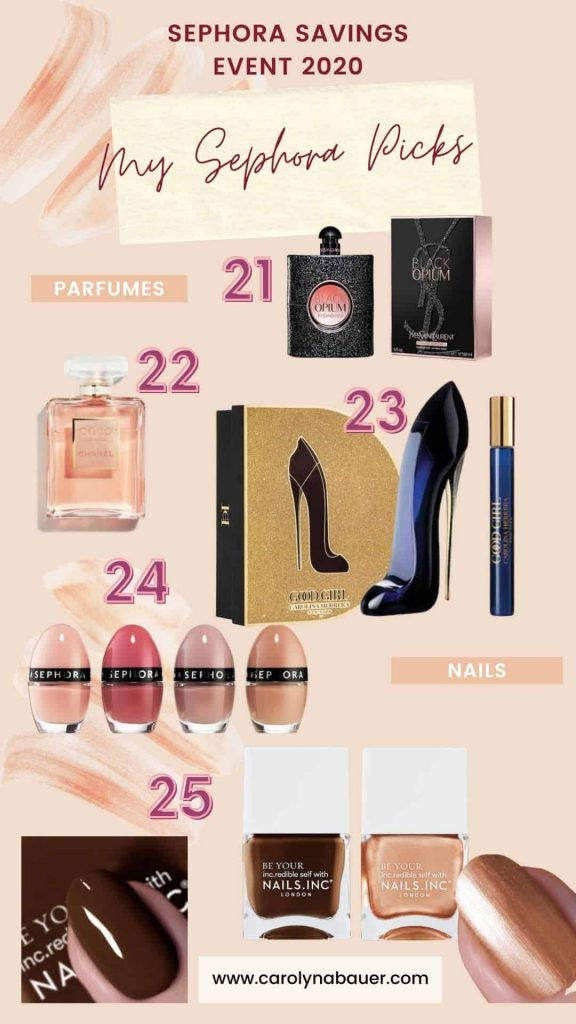 Perfumes and nail polishes Sephora Savings Event