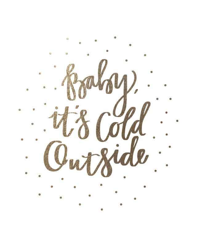 White gold Baby its cold outside background/template/wallpaper