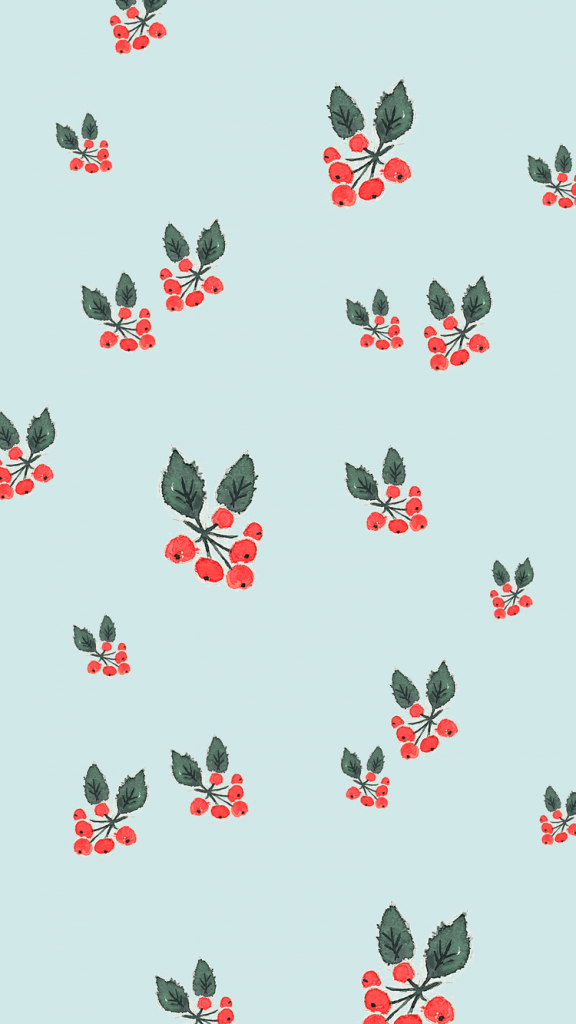 Blue holly background/template/wallpaper