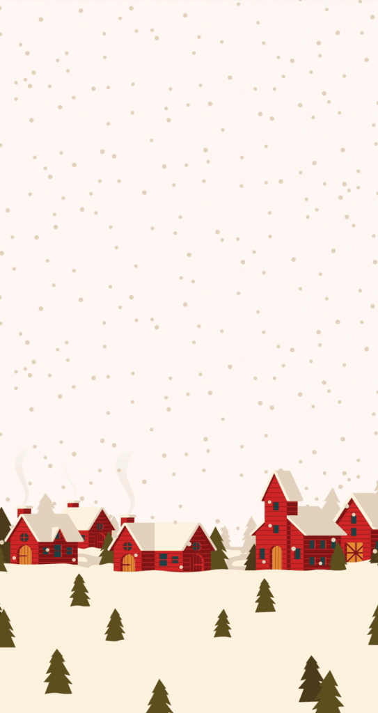 Snowy day Christmas city background/wallpaper/template